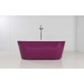 Purple Skirt Freestanding Acrylic Bathtub