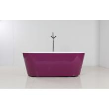 Falda púrpura independiente bañera de acrílico