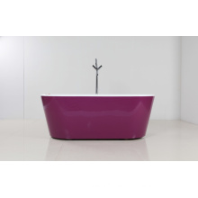 Purple Skirt Freestanding Acrylic Bathtub