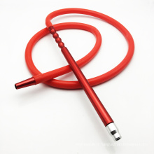 Tuyau de shisha de narguilé de silicone rouge de 2m avec l'embouchure en métal (ES-HH-016-1)