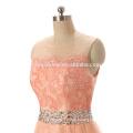 2017 nuevo vestido de encaje rosa encantador vestido de noche coreano para dama