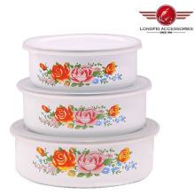 Weiße Farbe Emailleschalen mit hoher Qualität