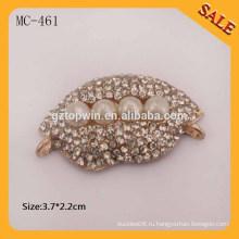 Акриловая этикетка MC461 убирает ярлык для шитья на металле сплава для одежды / багажа / шляпы