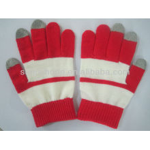 Вязаные перчатки с сенсорным экраном