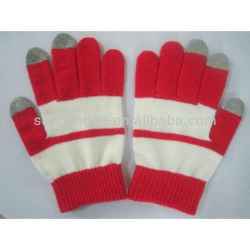 Tricoter des gants à écran tactile
