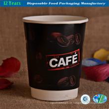 Einweg-Doppelwandige Isolierte Heiße Kaffee-Papierbecher