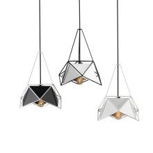 Industrial retro new modern art iron chandelier guangzhou led light golden black pendant light with E27 bulb