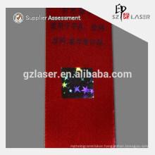 Hologram hot stamping foil label for fabric
