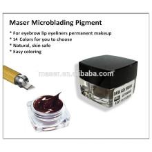 Sobrancelha permanente maquiagem sobrancelha tatuagem tinta pigmento creme pasta para microblading