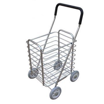 Portable folding shopping basket cart