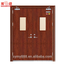 Pakistan 2 hours steel fire rated door design with door closer