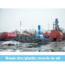 em vez disso, a máquina de incineração de resíduos para reciclar resíduos de reciclagem de pneus para fazer óleo combustível
