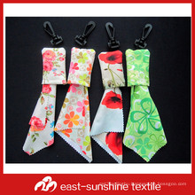 microfiber digital printing cleaning cloth key chain