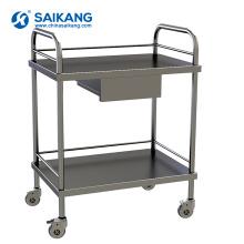 SKH001 Medicine Hospital Treatment Two Layer Trolley