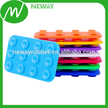 silicone glass table double sided suction cup