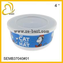Bol de melamina de 5 piezas con juegos de tapas, con diseños personalizados de impresión
