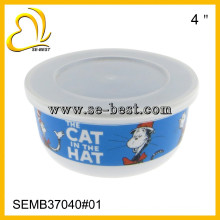 5 pcs melamine bowl with lid sets, with custom designs printing