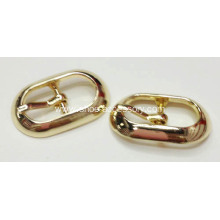Polishing Shoe Pin Buckle, New Design Metal Pin Buckle with Rose Gold Color