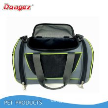 2017 New design portable Soft Sided Pet Carrier Handbag Airline Travel Approved carrier bag with mat for dot cat puppy
