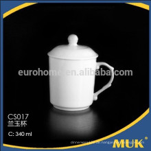 Porzellanlieferant Großhandel weißer runder Porzellan Teebecher