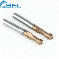 BFL Tungsten Carbide Hot Sell Ball Nose Cutting Tool, HRC55 Coating For Metal Cutting