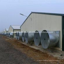 Vorfabriziertes Hühnerhaus mit Geflügel-Ausrüstung