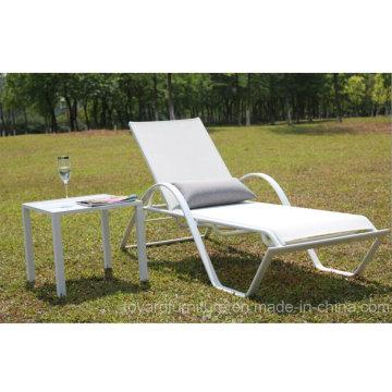 Patio Stack Chaise de plage Aluminium Batyline Mesh Mesh Sling pour piscine d'hôtel Beach Lawn Deck