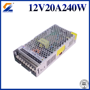 Slim LED-drivrutin 12V 20A 240W
