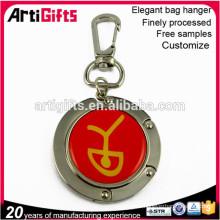 Custom design metal purse hanging key chain