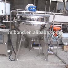 Vapor 50Lt-500Lt industrial Jacketed que cozinha a máquina da chaleira com misturador do agitador