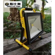 50W COB Супер яркий свет прожектора СИД, свет работы, перезаряжаемые, напольный портативный, светильник потока / проекта, IP67