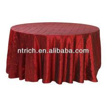 Mantel del tafetán del pintuck, lino de tabla, mantel del banquete del hotel