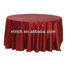 Nappe taffetas pintuck, linge de table, nappe hôtel/banquet