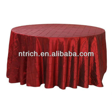 Tafetá pintuck toalha de mesa, toalhas de mesa, toalha de mesa para hotel/banquetes