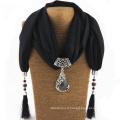 Les femmes légères femmes écharpe pashima viscose Pierre unique coton châles russes Bijoux pendentif écharpes