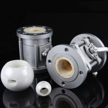 Válvula De Esfera De Cerâmica Zircônia Resistente Ao Desgaste Industrial