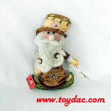 Stuffed Cloth Art Santas
