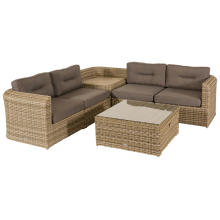 Resin Wicker Garden Outdoor Furniture Rattan Sectional Sofa Set