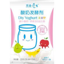 Pastel de yogur sano probiótico