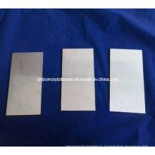 Plaques polies de molybdène