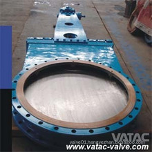 Gearbox Double Flange Knife Gate Valve