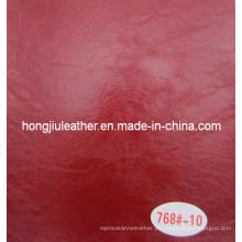 Couro de óleo de cera vermelho para móveis (Hongjiu-768 #)