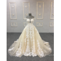 Последний Эластичный Свадебное Платье Сексуальные Кружева Чистой Обратно Vestido Де Novia Испания Свадебные Платья