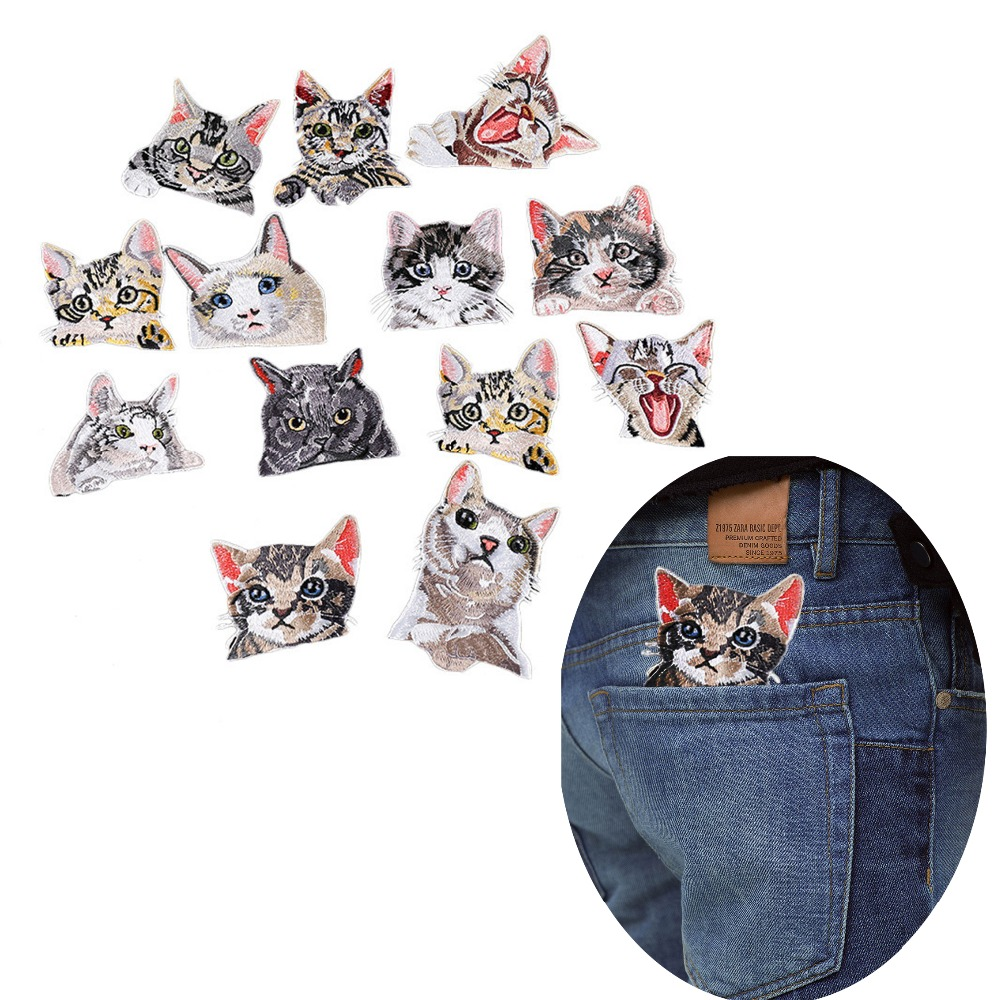 Cat Patches 3d Embroidery
