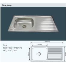Оптовый кухонный туалет Туалет из нержавеющей стали Ручная мойка с дренажным каналом