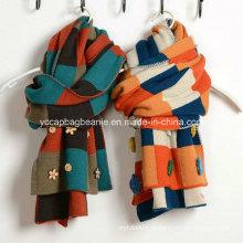 Мода дамы вязать зимний теплый вязаный шарф