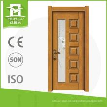 Puerta de madera interior de la venta de la melamina caliente del hogar del tamaño estándar para la colocación de la casa