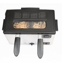 Friteuse électrique de logement d'acier inoxydable de contrôle manuel de 3L pour le poulet