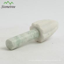Presse-citron en marbre blanc naturel, presse-citron, moulin à citron