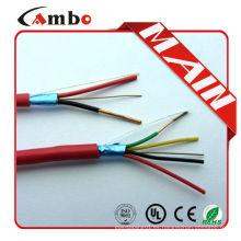 Alta calidad 75 grados de la nueva chaqueta del pvc 1000ft Rojo FPL FPLR cable rojo de la alarma de incendio